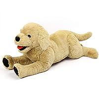 LotFancy Puppy Dog Stuffed Animal Plush, Cute Cuddly Stuffed Dog Plush Toy, Golden Retriever Stuffed Animal, Gift for Kids Nursery Décor