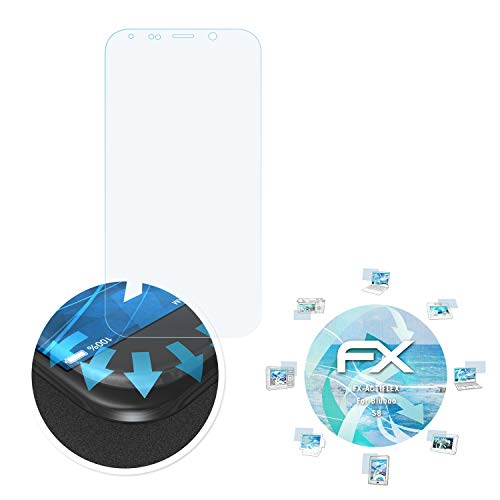 atFolix Schutzfolie passend für Bluboo S8 Folie, ultraklare & Flexible FX Bildschirmschutzfolie (3X)