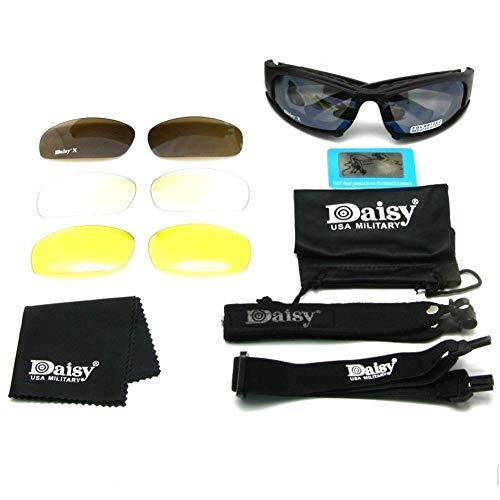 JOAN DOMINGUEZ Outdoor-Aktivitäten Polarisierte Daisy X7 Brillen Taktische Brillen Militärische Schießbrillen Sonnenbrillen Daisy Goggles UV-Schutz