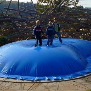 Aufblasbare Abdeckung Achtform 650 x 420 cm für Pool und Schwimmbad