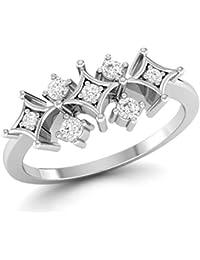 LOLLS 14K Rhodium Plated On Pure 925 Sterling Silver 0.30 TCW CZ Diamond Round Cut Designer Ring [LOLLS_BAR3425...