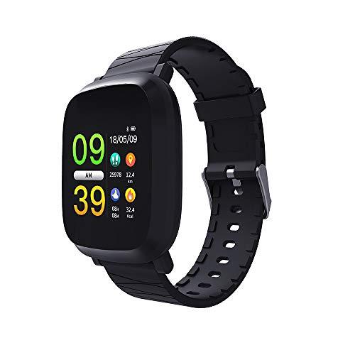 Dorical Fitness Armband mit Pulsmesser Wasserdicht IP67 Outdoor Tracker Aktivitätstracker mit Schrittzähler/Kalorienzähler/Schlafmonitor/Anruf Nachricht Benachrichtigung für ios Android(Schwarz)