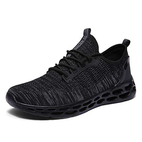 iHENGH Scarpe Running Sport Respirante Pu per Uomo Scarpa da Ginnastica Ragazzo Scarpe Moda Casual Shoes Men 2019 Nuovo Lace-Up Breathable Sneakers Estate