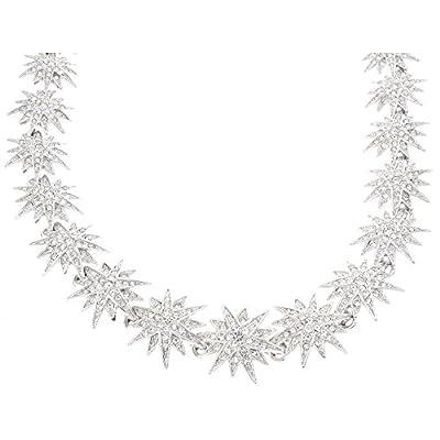 Kenneth Jay Lane Crystal Starburst Necklace