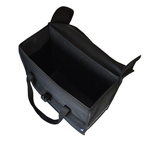 C-BAGS BOX POLKA DOTS Gepäckträger Fahrradtasche Tasche verschiedene Muster black-white
