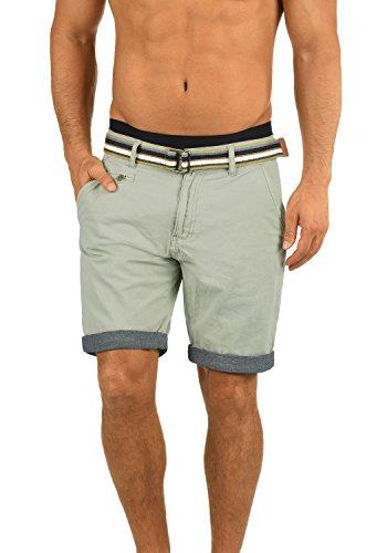 Indicode Cuba Herren Chino Shorts Bermuda Kurze Hose Mit Gürtel Aus 100% Baumwolle Regular Fit, Größe:L, Farbe:Light Grey (901)