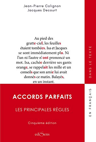 Accords parfaits : Les principale règles