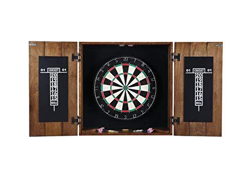 Hathaway Drifter Dartscheibe und Schrank-Set, aus massivem Holz, rustikale Eiche, 15,2 x 63,5 cm