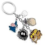 Haushele OFD Miyazaki Totoro Zweite Generation Farbe Legierung Puppe 5 Anhänger Schlüsselanhänger Tasche Schlüsselanhänger Ornamente Geschenk Tag