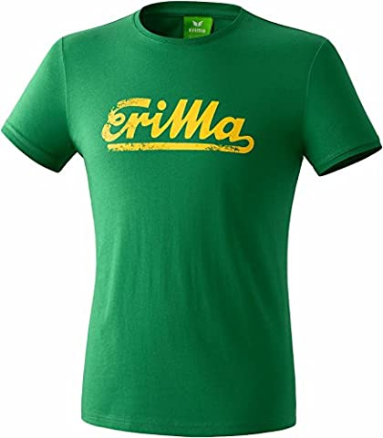 ERIMA Children Retro T-Shirt Basic Line smaragd/gelb, options Size: S, (Linee T-shirt Retrò)