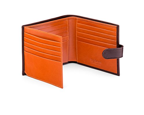 SageBrown Brown With Orange Hip Wallet With Extra Page