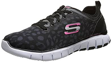 Skechers Sport Women's Skech Flex Fashion Sneaker Black/White 9 B(M) US