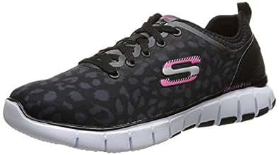 Skechers Sport Women's Skech Flex Fashion Sneaker Black/White 9 B(M) US