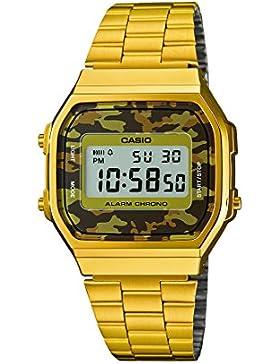 Casio Collection – Unisex-Armbanduhr mit Digital-Display und Edelstahlarmband – A168WEGC-5EF