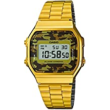 CASIO A168WEGC-5 - Reloj de cuarzo, para hombre, color dorado