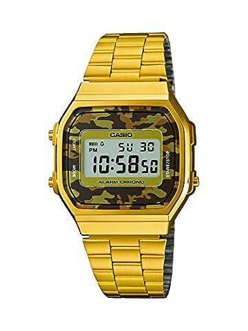 Casio Herren-Armbanduhr Collection Digital Quarz Edelstahl A168WEGC-5EF