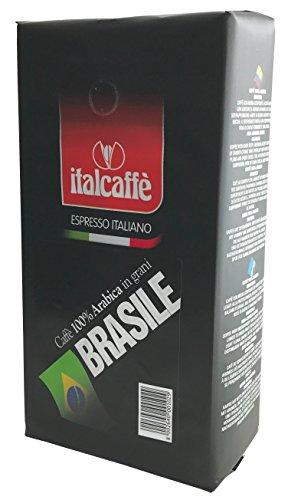 Italcaffè Espresso 100% Arabica, Caffè in Grani Brasile Santos, 3 x 1.000 g