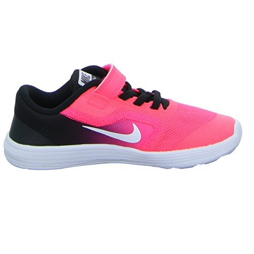Nike Revolution 3 Gtv, Sneakers Fille Multicolore (Black/white/racer Pink)