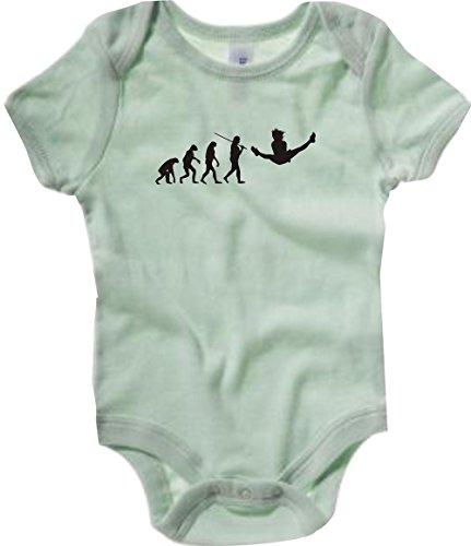 Kostüm Ballett Nussknacker Tanz - Krokodil Baby Body Evolution Gymnastik,Tanz,Akrobatik,Bodenturnen,Ballet Farbe palegruen, Größe 6-12 Monate