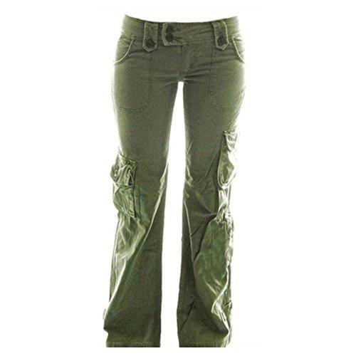 Juqilu Damen Cargo Hosen Casual Hosen Multi Taschen Outdoor Hosen Gitter Stil Arbeit Casual Hosen Trekking Hosen für Camping Bergsteigen Große Größe S-5XL