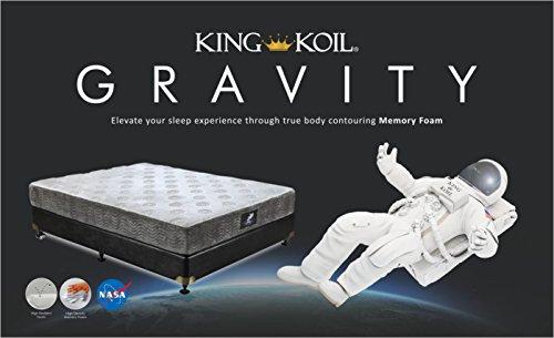 King Koil Gravity 6-inch King Size Memory Foam Mattress (White, 84x72x6)
