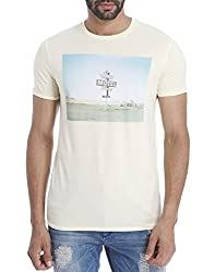 Jack & Jones Men Casual T-shirt(_ 5713230014109 Beige Medium)