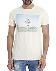 Jack & Jones Men Casual T-shirt(_ 5713230014093 Beige Small)