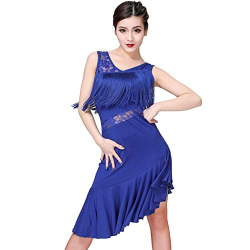 55684f5dd6ab Loveablely Femmes Latin Dance Dress Dentelle Gland Robe de Cocktail Jupe  Danse