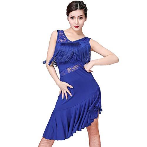2bd4097721 Loveablely Femmes Latin Dance Dress Dentelle Gland Robe de Cocktail Jupe  Danse
