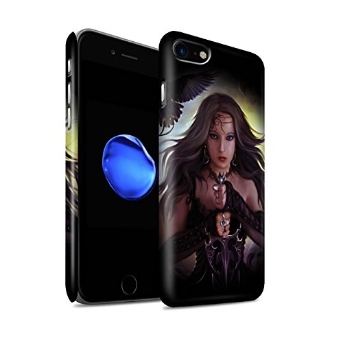 Officiel Elena Dudina Coque / Clipser Matte Etui pour Apple iPhone 7 / Reine des Glaces Design / Super Héroïne Collection Coeur Noir