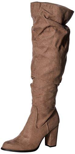 Madden Girl Frauen Cinder Pumps Rund Fashion Stiefel Braun Groesse 7 US/38 EU (Knee Brown Suede Stiefel)