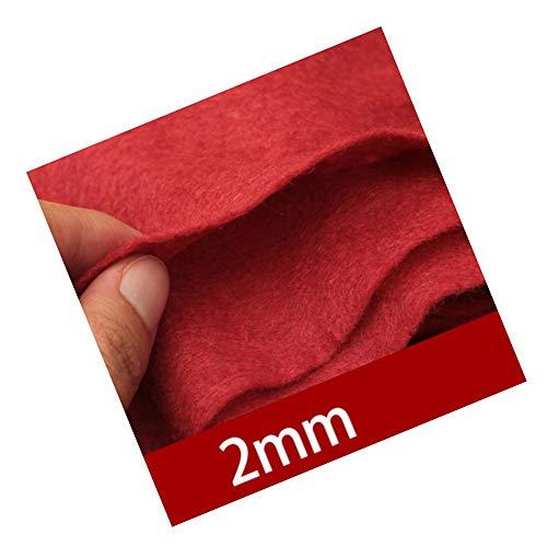 12WZS Alfombra roja para Bodas, 2,5 mm de Grosor, Utilizada para Bodas, Iglesias, pasillos, Alfombra...