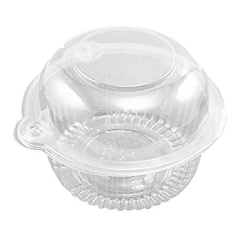 quici 100Kunststoff Single einzelnen Cupcake Muffin Dome Halterungen Fällen Tassen Pods Cup Cake Behälter für Hochzeit Party (Cupcake-container Single)