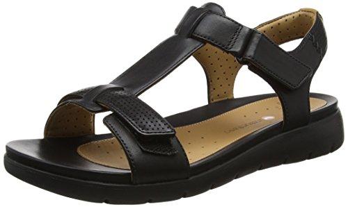 Clarks 261250864, Sandali Donna Nero (Black Leather)