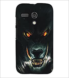 PrintDhaba Wolf D-5136 Back Case Cover for MOTOROLA MOTO G (Multi-Coloured)