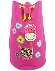 Linda rosa de la jirafa de la playa impermeable Bolsa plegable Piscina bolsos de lazo