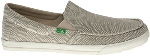 Sanuk Sideline Checked Slip On Shoes Oatmeal Checked
