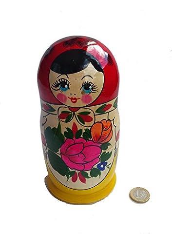 russe Matriochka Poupées gigognes fabriquée à la main classique 7pièces 17cm en bois Cadeau jouet