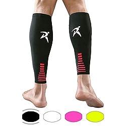 Rymora Fußlose Kompressionsstrümpfe Ärmeln - Abgestufte Kompression Wadenbandage, Unisex für Männer und Frauen