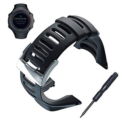 JTMM Suunto Ambit Uhrenarmband Ersatz-Kits, verstellbares Uhrenarmband aus weichem Gummi Uhrenzubehör für Suunto Ambit 1/2 / 2S / 2R / 3 Sport / 3 Run / 3 Peak