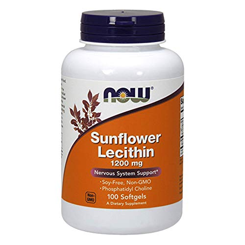 NOW NF Sunflower Lecithin, 1200 mg, 100 Kapseln - Lecithin 100 Kapseln