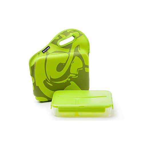 Green Go Lunch-box (Lunch Box / Pret A paquet/ mit Griff/ Auslaufsicher / Stylisch (GREEN))