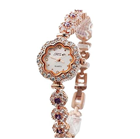 XXFFH Uhr Casual Digital Mechanical Solar Exquisite small dial water resistant bracelet encrusted with diamonds ladies table ,