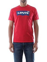 Levi's T-Shirt Housemark Graphic uomo Rosso Girocollo Stampa con Logo 2248901 73