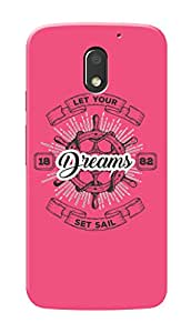 Motorola Moto E3 Black Hard Printed Case Cover by Hachi - Let Your Dreams Set Sail Design