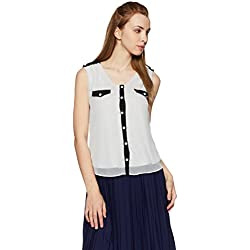 Avirate Women's Body Blouse Shirt (AVBL100249_Black and White_14)