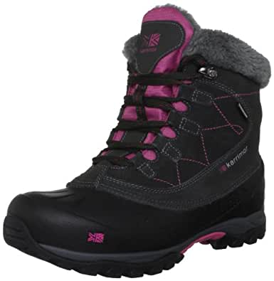 Karrimor Women's Snowfur II Weathertite Black/Cochineal Snow Boot K517-BCL-145 4 UK, 37 EU, 5 US