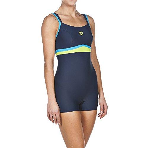 arena Damen Bein Celebrity Badeanzug Navy/Turquoise/Leaf