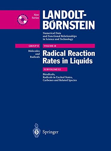 Biradicals, Radicals in Excited States, Carbenes, and Reladte Species: Index of Substances for II/13, II/18 (Landolt-Börnstein: Numerical Data and ... and Technology - New Series, Band 1800) (Platz 18)