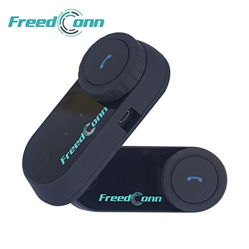 Motorrad Kommunikation System,FreedConn Helm Bluetooth Intercom,Helm Headset(800m Reichweite,Damit drahtlos anrufen,Telefongespräch empfangen,Mp3-Musik hören,GPS-Sprachansagen(2er mit Weichem Kabel) -